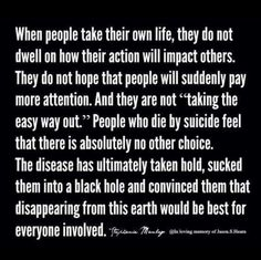 Image result for suicide is not selfish quote
